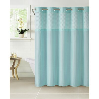 Hammann Eyelet Shower Curtain Color: Blue