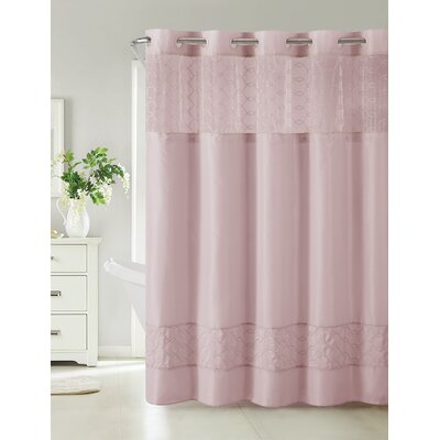 Humble Shower Curtain Color: Mauve