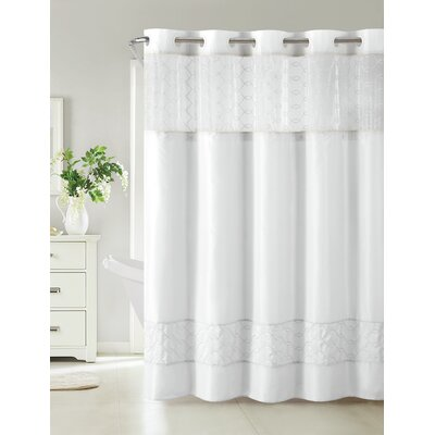 Humble Shower Curtain Color: White