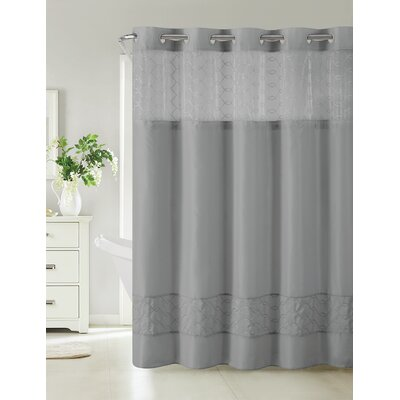 Humble Shower Curtain Color: Slate