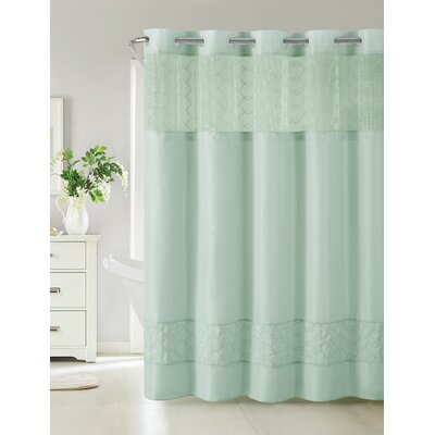 Humble Shower Curtain Color: Blue
