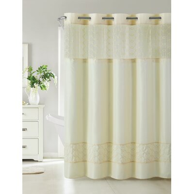 Humble Shower Curtain Color: Vanilla