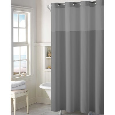 Beaman Plain Weave Shower Curtain Color: Frost Gray