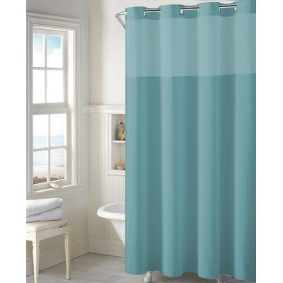 Beaman Plain Weave Shower Curtain Color: Teal Blue