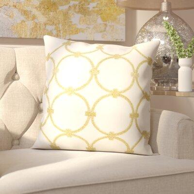 Hertzog Throw Pillow Color: Light Gold