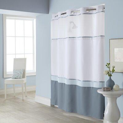 Hebrides Shower Curtain Color: Blue