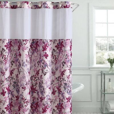 Pimentel Floral Shower Curtain Color: Fushia