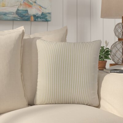 Montego Stripes Cotton Throw Pillow Color: Beige