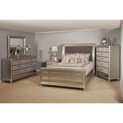 Panel 5 Piece Bedroom Set Bed size: Queen