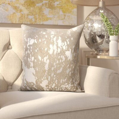 Surrey Leather Throw Pillow Color: Gray Silver