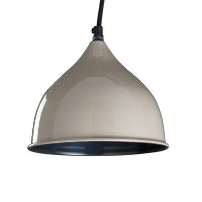 Dinardo 1-Light Inverted Pendant Finish: Opal Gray, Size: 68�H�x�9�W�x�9�D