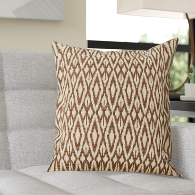 Garner Cotton Throw Pillow Color: Chocolate, Size: 18x18