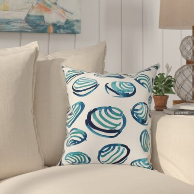 Cedarville Clams Geometric Print Throw Pillow Size: 18 H x 18 W, Color: Teal
