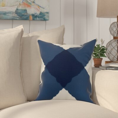 Crider X Marks the Spot Geometric Print Indoor/Outdoor Throw Pillow Color: Navy, Size: 16 x 16