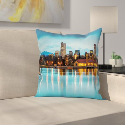 Ferril Lake at Morning Square Pillow Cover Size: 24 x 24