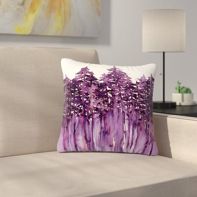 Ebi Emporium Forest Through the Trees Outdoor Throw Pillow Size: 18 H x 18 W x 5 D, Color: Purple/White