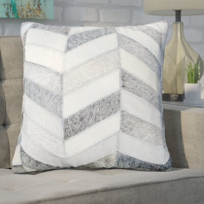 Freshford Leather Throw Pillow Pillow Cover Color: Light Gray