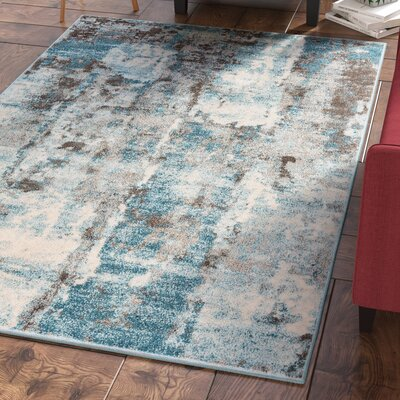 Elkhart Ivory/Turquoise Area Rug Rug Size: Rectangle 8 X 11