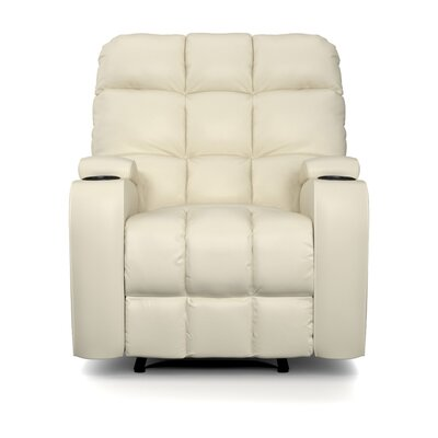 Dierks Manual Wall Hugger Recliner Upholstery: Cream