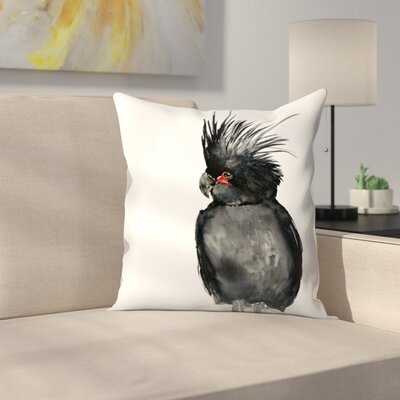 Palm Cockatoo 2 Throw Pillow Size: 16 x 16