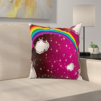 Modern Cartoon Square Pillow Cover Size: 24 x 24