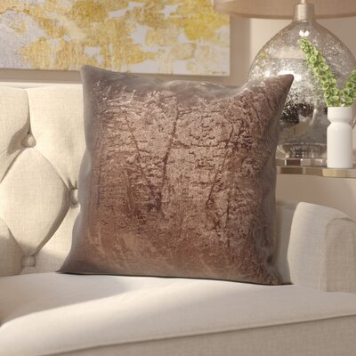 Fleischman Throw Pillow Size: 24, Color: Dark Truffle