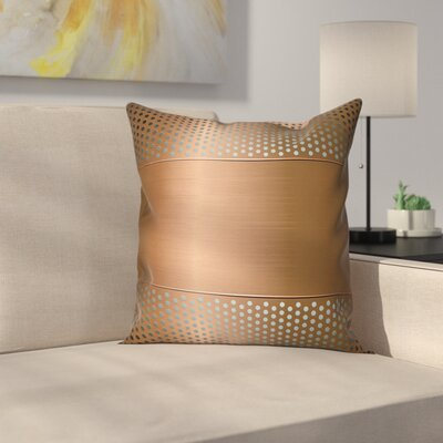 Perforated Grid Square Pillow Cover Size: 24 x 24