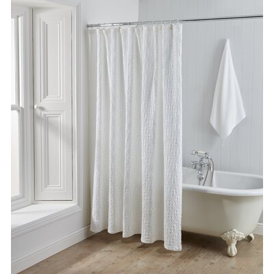 Kuester 100% Cotton Shower Curtain Size: Extra Long ( 72x84)