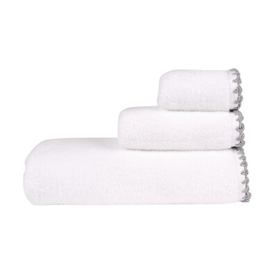 Hand Towel Color: White/Graphite
