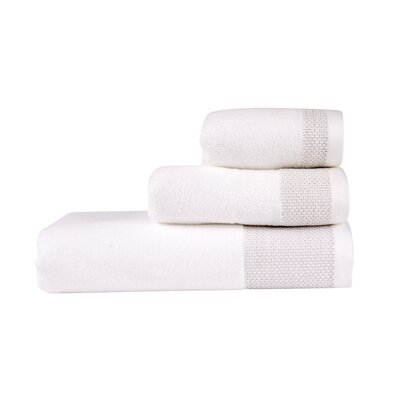 Fingertip Towel Color: White/Pumice