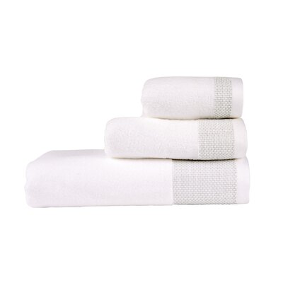 Bath Towel Color: White/Surf