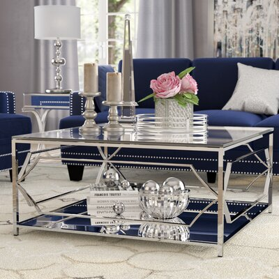 George Coffee Table Color: High Polish Steel