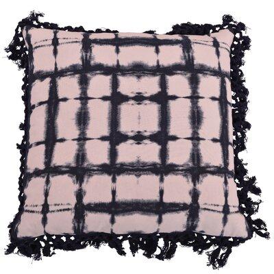 Orenstein Shibori Fringe Trim Throw Pillow Color: Insignia Blue
