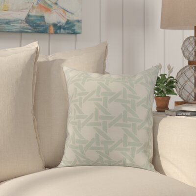 Cawley Rattan Geometric Print Indoor/Outdoor Throw Pillow Color: Pale Blue, Size: 18 x 18