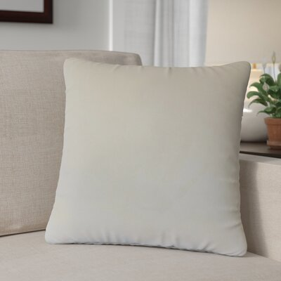 Theriault Solid Cotton Throw Pillow Color: Vanila