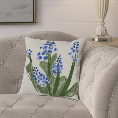 Laymon Throw Pillow Color: Blue, Size: 18 x 18