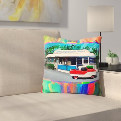 Metropolitan Diner Throw Pillow