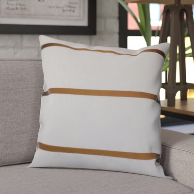 Sonny Decorative Silk Throw Pillow Color: Gold