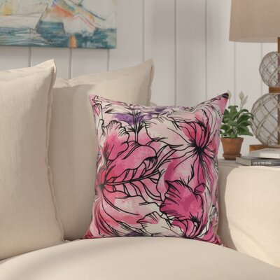 Randall Floral Print Indoor/Outdoor Throw Pillow Color: Purple, Size: 16 x 16