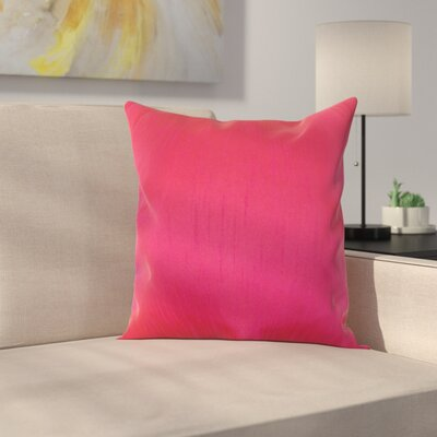 Lindfield Throw Pillow Color: Fuchsia, Size: 18 H x 18  W