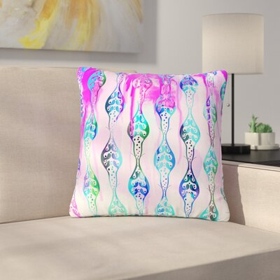 Dan Sekanwagi Seeds of Unity - Variety Paint Outdoor Throw Pillow Size: 16 H x 16 W x 5 D, Color: Pink