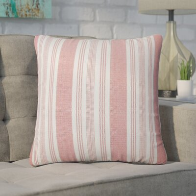 Wallin Striped Cotton Throw Pillow Color: Spice
