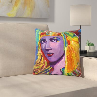Claudette Colbert Cleopatra Throw Pillow