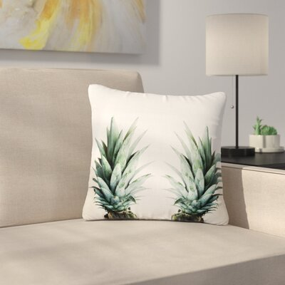 Two Pineapples Outdoor Throw Pillow Size: 16 H x 16 W x 5 D