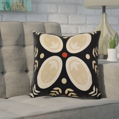 Mazee Decorative Holiday Geometric Print Throw Pillow Size: 26 H x 26 W, Color: Black