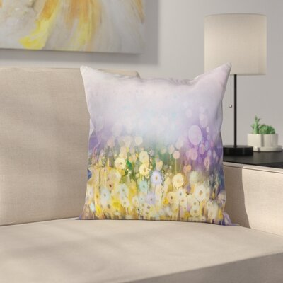Idyllic Pastoral Flower Square Pillow Cover Size: 18 x 18
