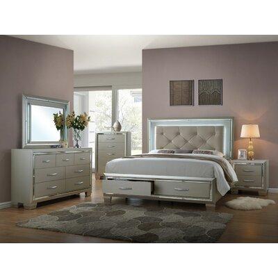 Kelly Platform 4 Piece Bedroom Set Bed Size: King