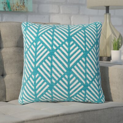 Darren Geometric Design Square Throw Pillow Color: Teal