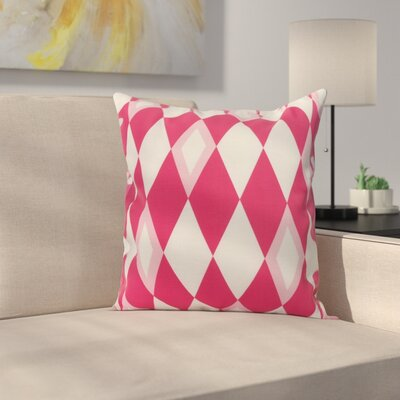 Secrest Throw Pillow Color: Pink, Size: 18 x 18