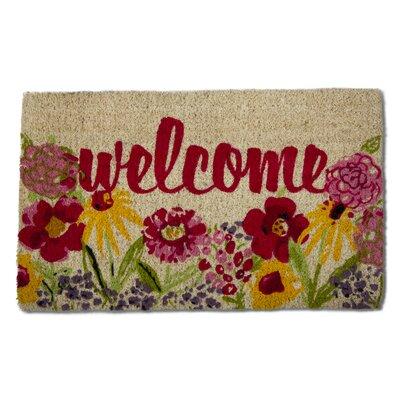 Fresh Flowers Coir Doormat